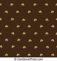 Clover leaf seamless pattern. Vector, EPS10