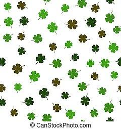 Clover leaf seamless pattern vector