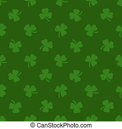 Clover leaves background. St. Patrick day. Seamless - Clover...