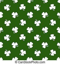 Clover leaves background. St. Patricks day. Seamless pattern