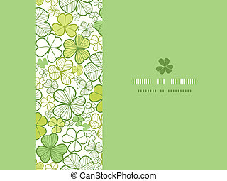 Clover line art horizontal seamless pattern background