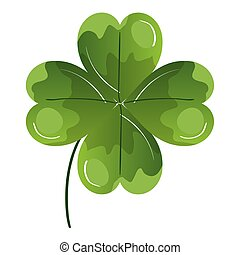 clover of four leafs isolated icon