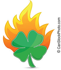 clover on fire lucky concept