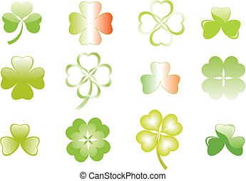 clover or shamrock for Patricks day - clover or shamrock for...