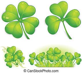Clover pattern - Four leaf clover pattern, vector...