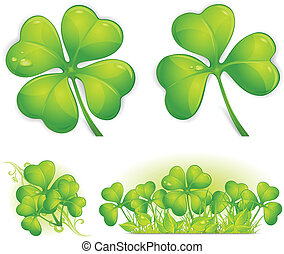 Clover pattern - Four leaf clover pattern, vector...