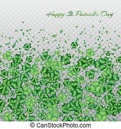 Clover pattern transparent - St. Patricks Day background...