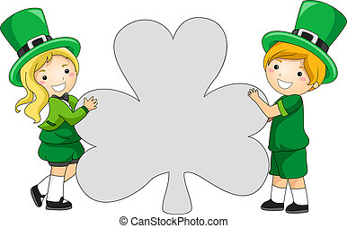 clover-shaped, 기치