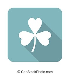 Clover square icon