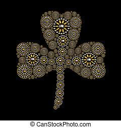 Clover symbol jewelry ornament