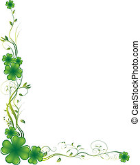 Clover Theme - Vector illustration. It can be scaled or ...