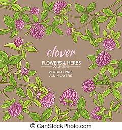 clover vector frame - clover flowers vector frame on color...