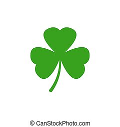 Clover vector icon. Shamrock vector icon isolated on white background