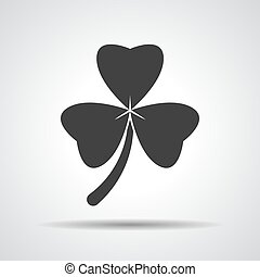 Clover with three leaves sign icon.
