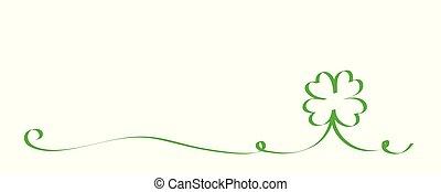 cloverleaf border for St. Patricks Day