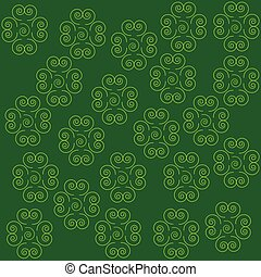 Cloverleaf on green background