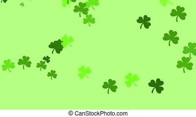Clovers - A bunch of clovers are drifting across the screen....