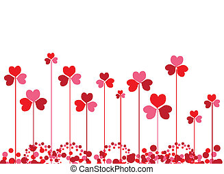 Clovers background for your design
