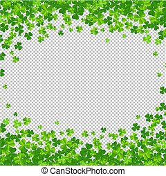 Clovers Frame Isolated Transparent Background