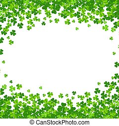 Clovers Frame Isolated