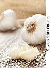 cloves, fresco, organico, aglio