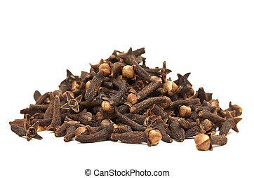 Cloves Isolated - Image of a Pile of Cloves Isolated with...