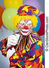 clown, alcoolique