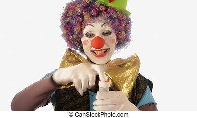 clown and soap bubbles