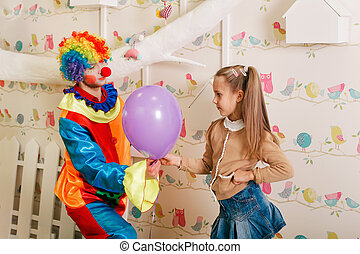 clown., anniversaire, divertissement