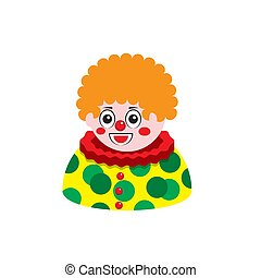 clown artist icon on a white isolated background. Vector image