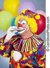 clown, assoiffé