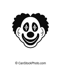 Clown black simple icon