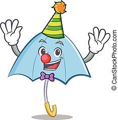 Clown blue umbrella character cartoon