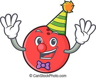 Clown bowling ball character cartoon