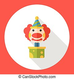 clown box flat icon