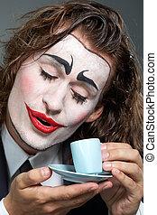 clown, café