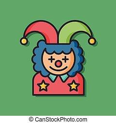 clown cartoon character vector icon