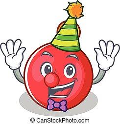 Clown Christmas ball character cartoon