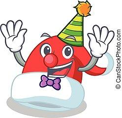 Clown Christmas hat character cartoon