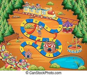 Clown circus game