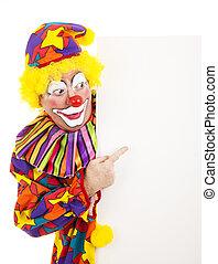 clown, cirkus, pekande