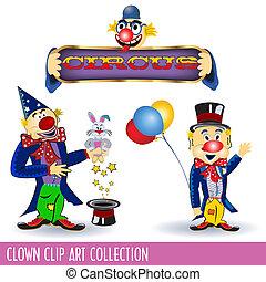 Clown Clip Art Collection