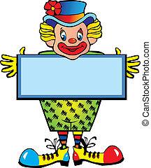 Clown. - Funny clown. Vector art-illustration on a white...