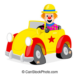 Clown - A Clown And His Car
