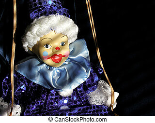 Clown doll on swing - Childhood remembered, innocence...