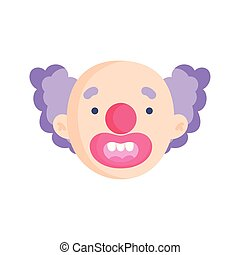 clown face icon trick or treat happy halloween