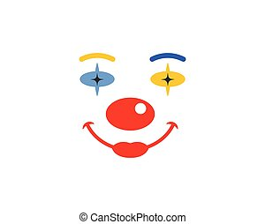 clown face illustration vector icon design