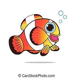 Clown fish cute cartoon