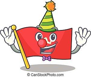Clown flag isle of man with cartoon