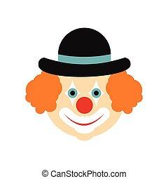 Clown flat icon
